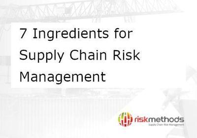 Whitepaper 7 Ingredients for Supply Chain Risk Management