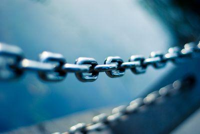 chain-blue-background