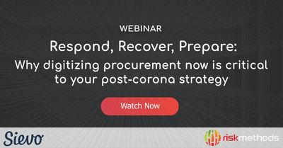 Why digitizing procurement now is critical to your post-corona strategy